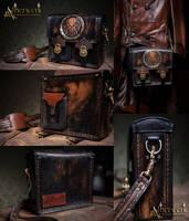 Custom ordered shoulder bag by Aetherwerk