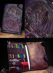 Folder for drawing with celtic pattern