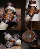 Drinking horn belt holder by Aetherwerk