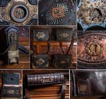 Heavy victorian shoulder bags. by Aetherwerk