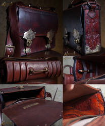 victorian leather bag