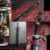 Custom Made sword sheet and new handle for a sword
