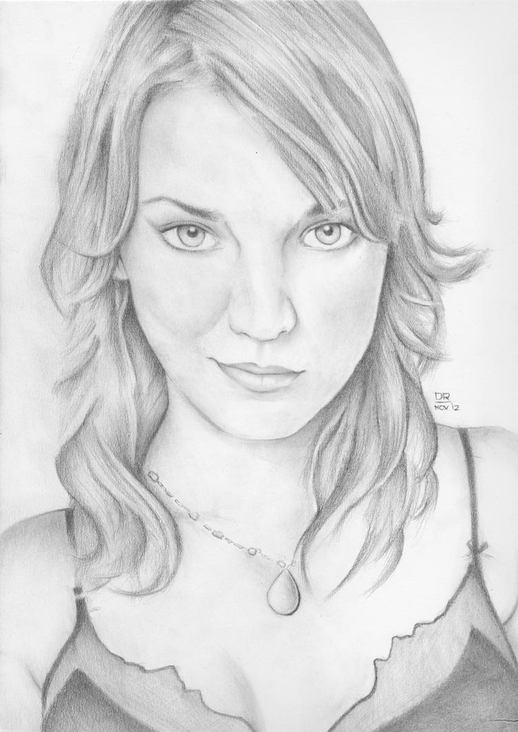 Kaley Cuoco portrait by menacestudio