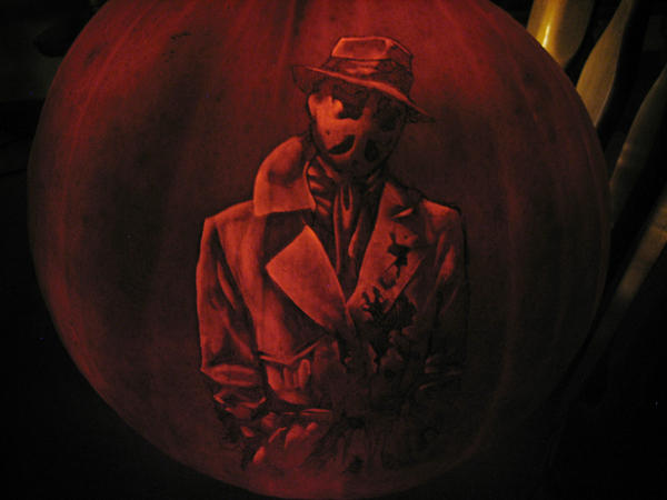 Rorschach Pumpkin by qw3323