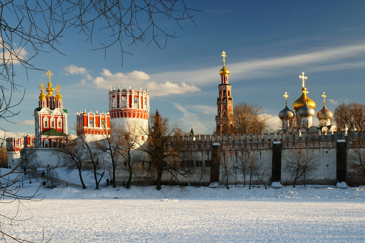 The Novodevichy Convent. Winter evening. by Nickdan on DeviantArt