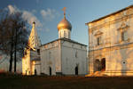 Evening in the old monastery