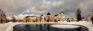 St.David monastery. Winter.