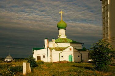 Old church. Evening.