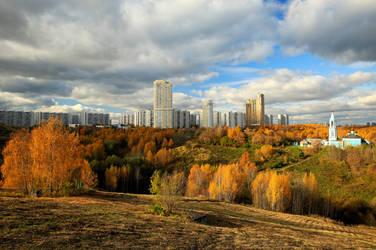 Moscow suburbs. Autumn.