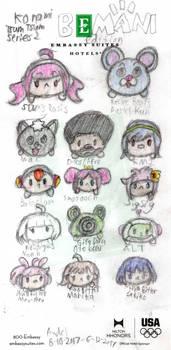 Konami Tsum Tsum Series 2 - BEMANI Edition