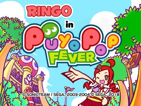 Ringo in Puyo Pop Fever Title Screen (MOCK)