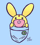 Puyo Puyo Carbuncle in the Pocket by MamonStar761