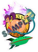 Planet Express Turanga Leela thicc booty sticker by Asshunter777ART