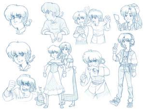 Ranma sketches 1/2