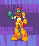 Samus in Megaman X
