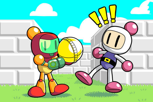 Samus in Bomberman