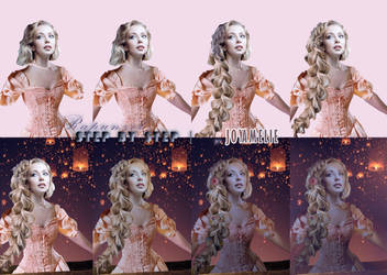 Rapunzel STEP BY STEP by joyamelie