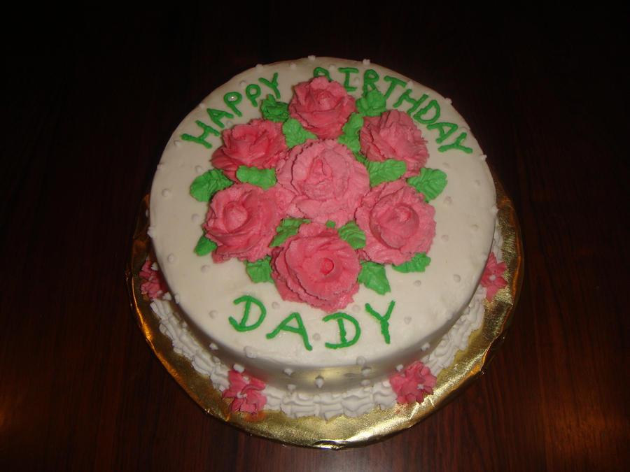 Happy Birthday Roses Cake By Jessica Nahulan On Deviantart