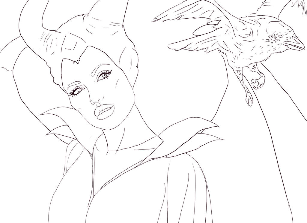 Maleficent into a bird by jessica nahulan on deviantart for Maleficent coloring pages