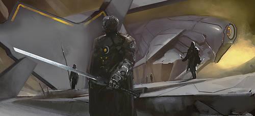 Space mercenary by Eaworks
