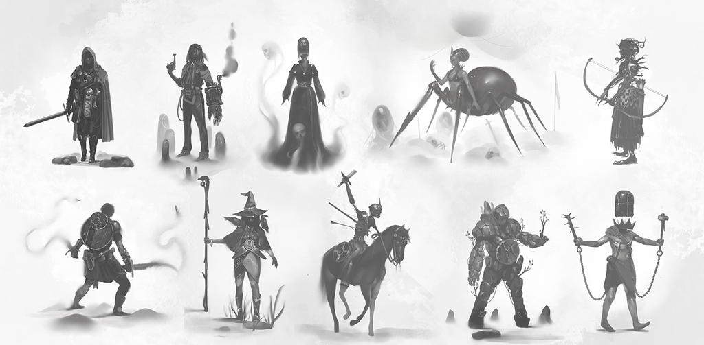 Charadesign thumbnails - 2 by Eaworks