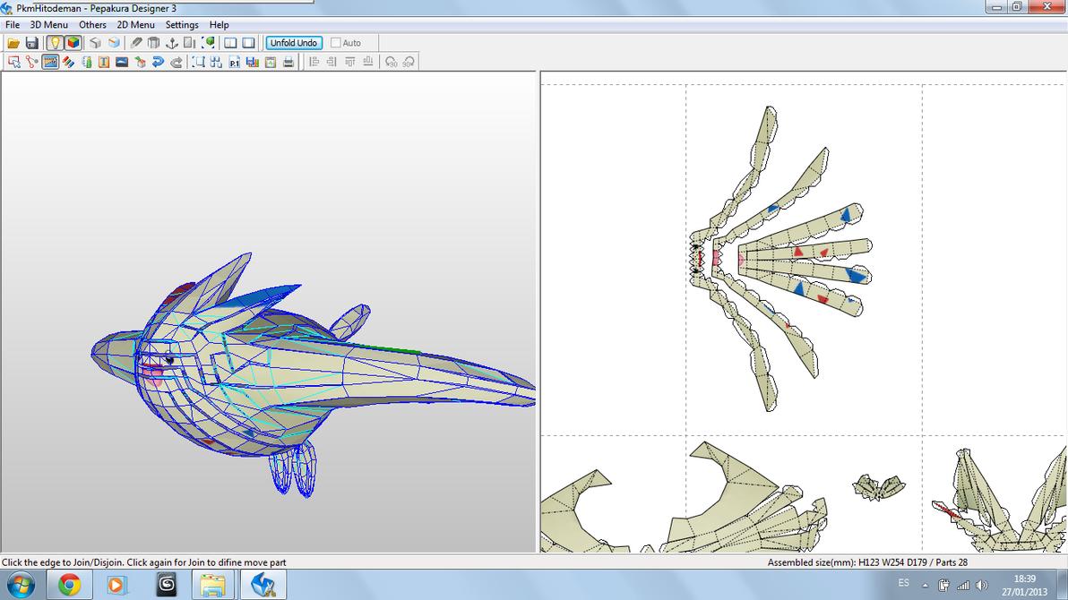 Togekiss Model Unfold by javierini