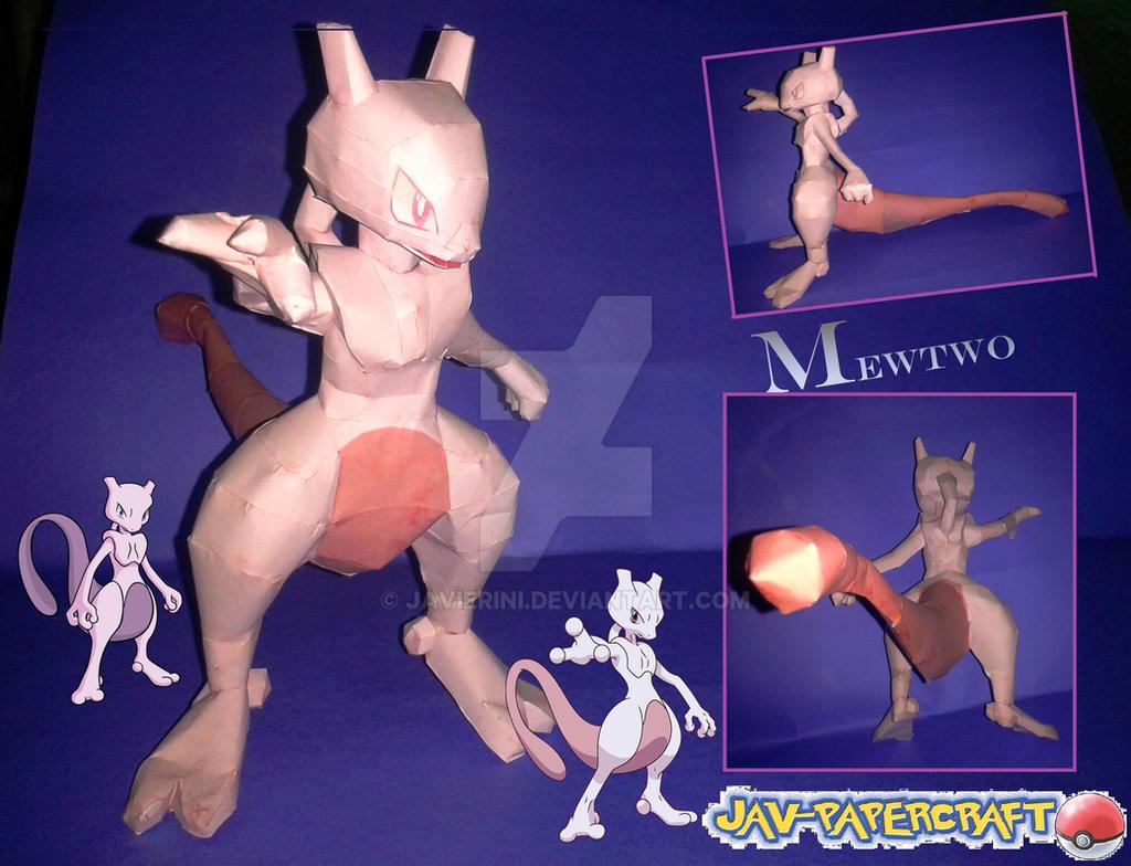 Mewtwo papercraft by javierini