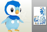 Piplup papercraft
