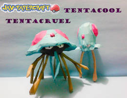 Tentacool Tentacruel papercraft by javierini