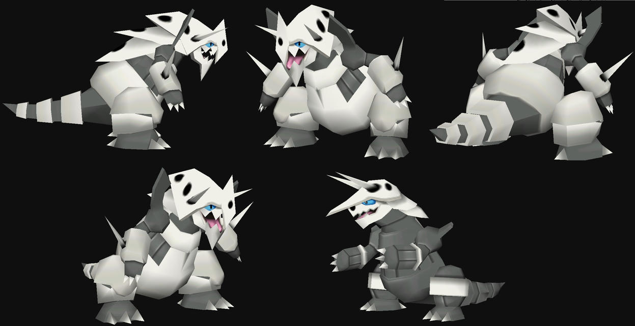 Mega Aggron papercraft Model preview by javierini