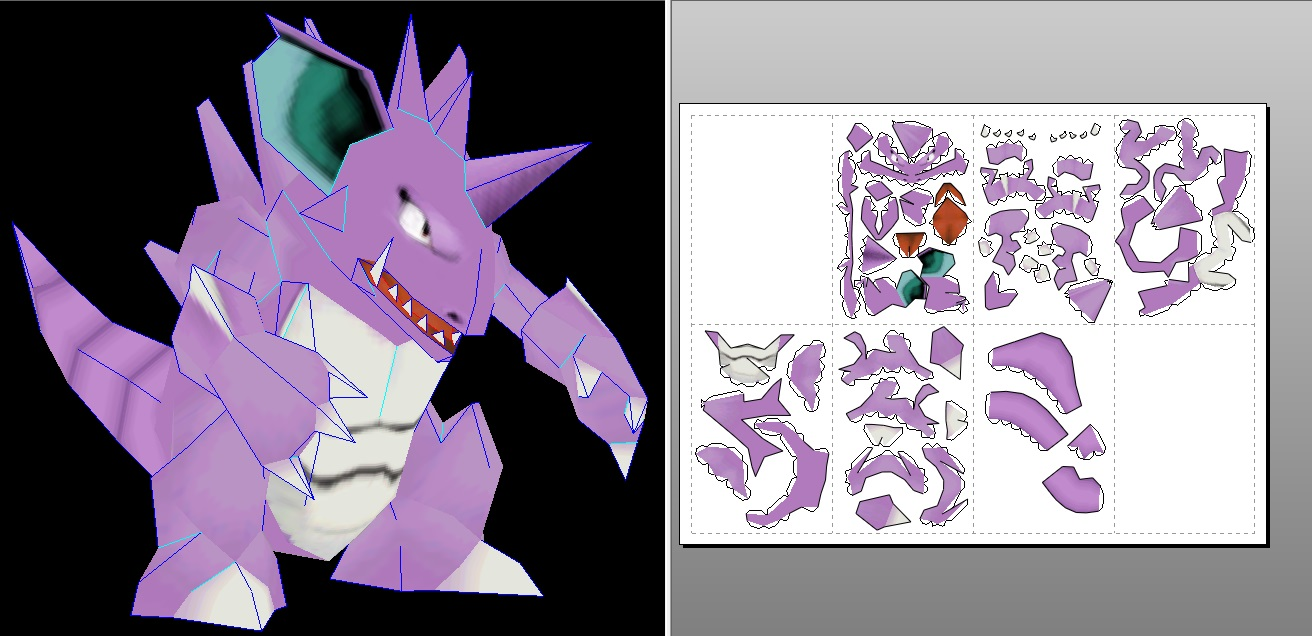 Nidoking papercraft by javierini
