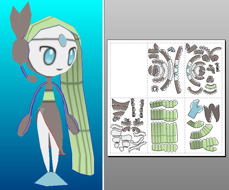 Meloetta papercraft