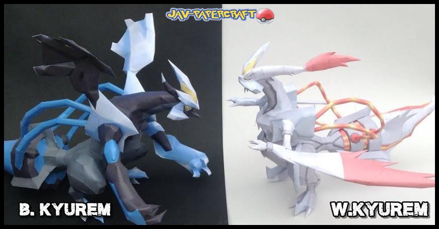 pokemon black and white 2 kyurem papercraft :v by javierini