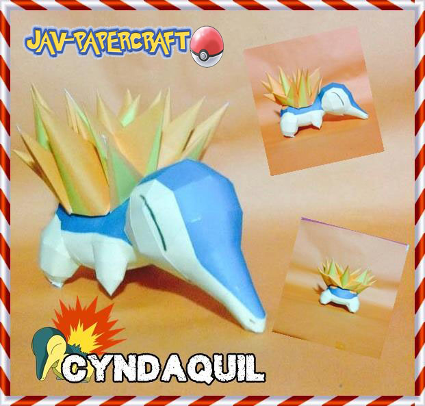 Cyndaquil papercraft + download by javierini