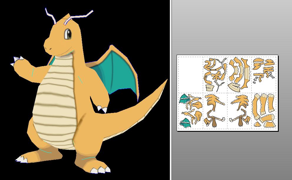 Pokemon Papercraft Templates Dragonite