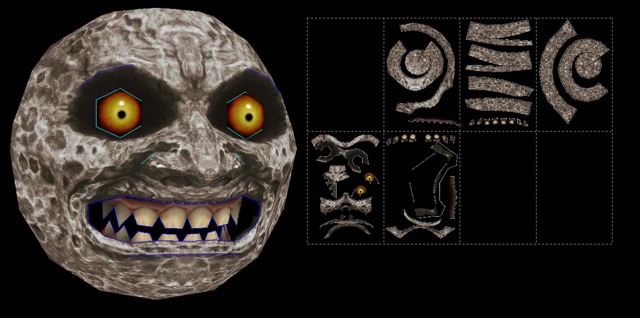 legend of zelda majora's mask moon papercraft by javierini