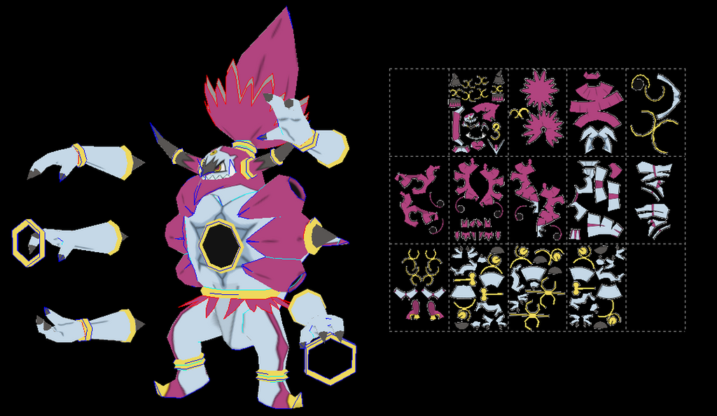 Hoopa Unbound papercraft by javierini