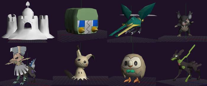 My alola pokemon papercraft