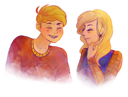 neville and luna by syviethorne