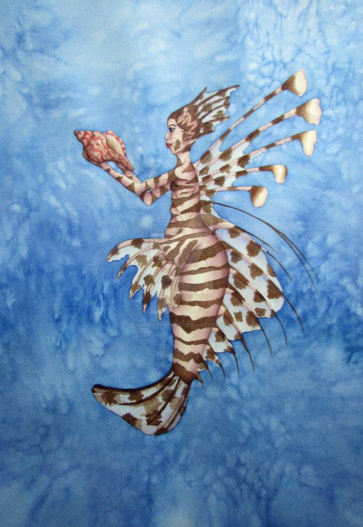 Pterois volitans by LindseyHodder