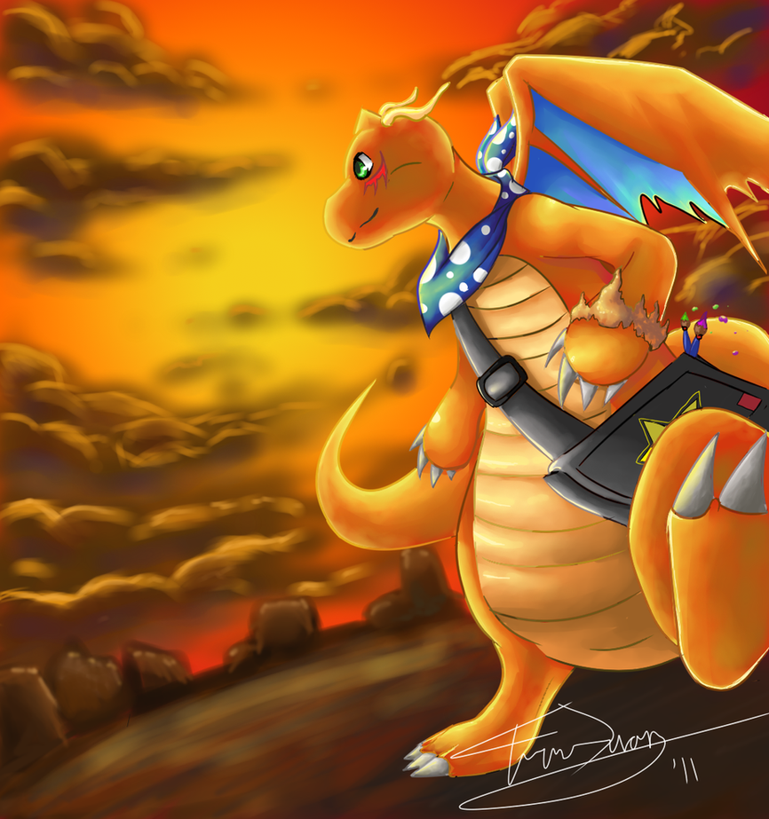 dragonite off to the horizon by thekiwislayer on deviantart