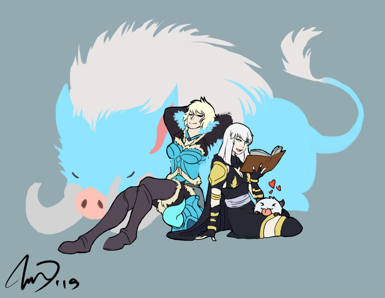 Ashe and Sejuani by TheKiwiSlayer on DeviantArt