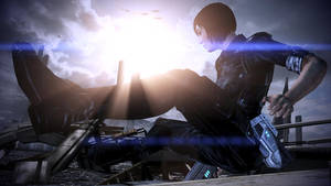 Mass Effect 3: Shepard showing her sliding moves!