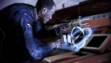 Mass Effect 3: Anderson using the radio