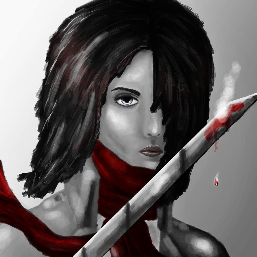 Snk - Mikasa by Fanciful-drawer