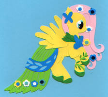 Art of the Dress: Fluttershy by Neko-daewen