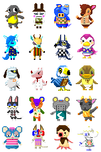 Villager Pixels by Neko-daewen
