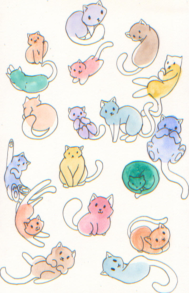Cat Beans by Neko-daewen