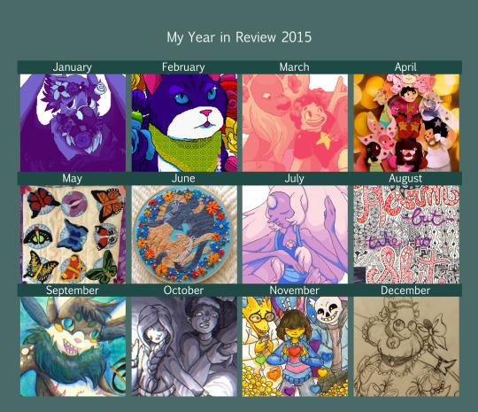 Year In Review: 2015 by Neko-daewen