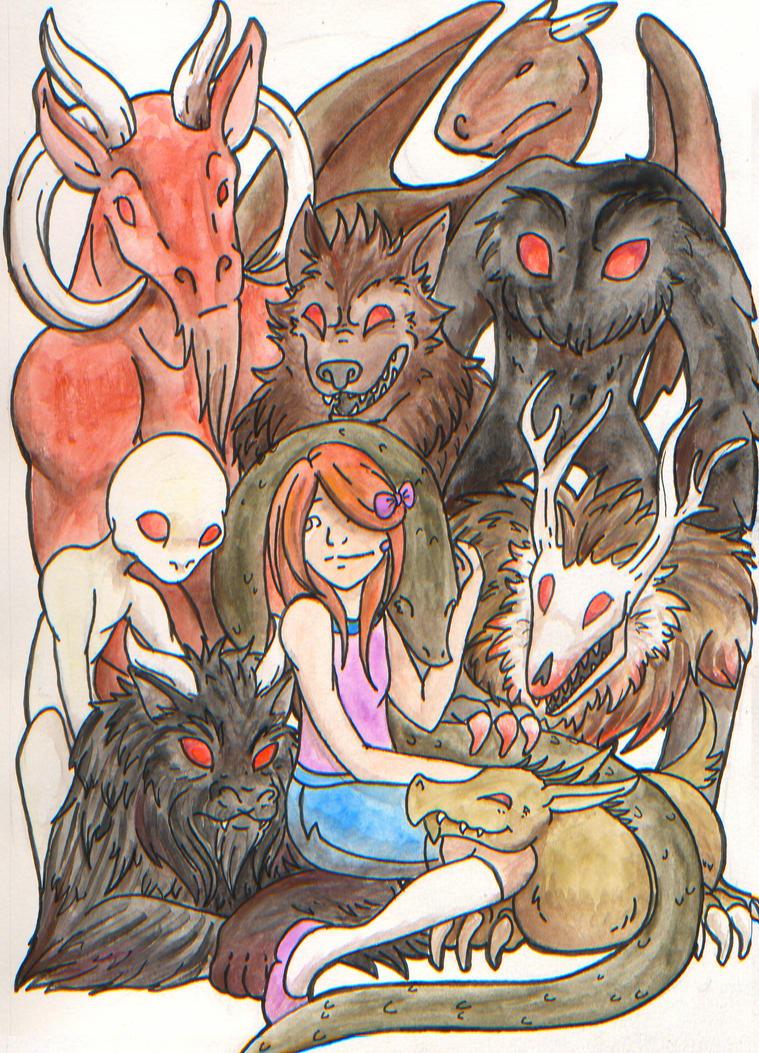 Americana Monsters by Neko-daewen